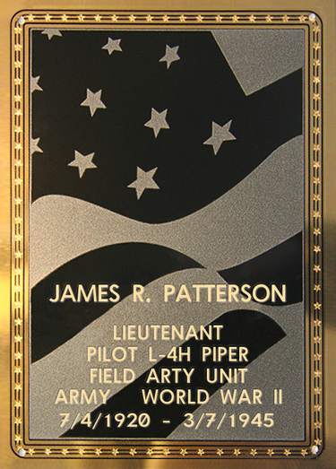 James R. Patterson Plaque