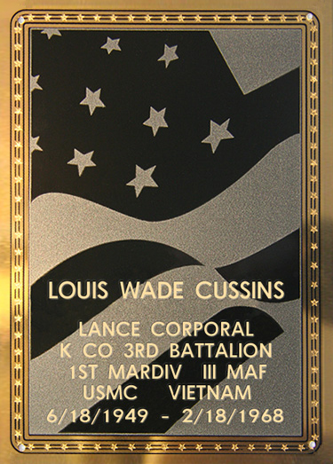 Louis W. Cussins Plaque